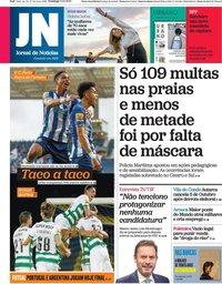 capa Jornal de Notícias de 3 outubro 2021