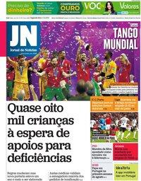 capa Jornal de Notícias de 4 outubro 2021
