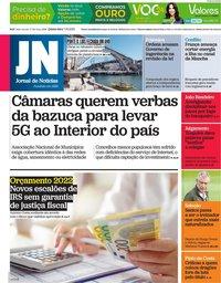 capa Jornal de Notícias de 7 outubro 2021