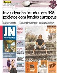 capa Jornal de Notícias de 9 outubro 2021