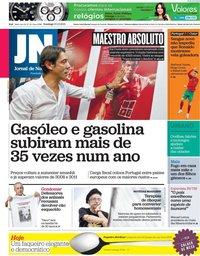 capa Jornal de Notícias de 10 outubro 2021