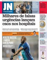 capa Jornal de Notícias de 11 outubro 2021