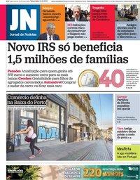 capa Jornal de Notícias de 12 outubro 2021