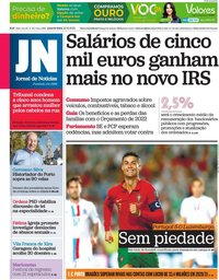 capa Jornal de Notícias de 13 outubro 2021