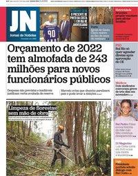 capa Jornal de Notícias de 14 outubro 2021
