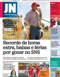 capa Jornal de Notícias de 17 outubro 2021