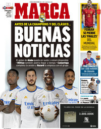 capa Jornal Marca de 15 outubro 2021