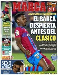 capa Jornal Marca de 18 outubro 2021