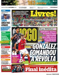 capa Jornal O Jogo de 1 outubro 2021