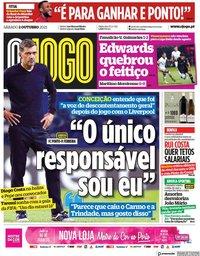 capa Jornal O Jogo de 2 outubro 2021