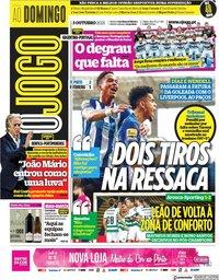 capa Jornal O Jogo de 3 outubro 2021