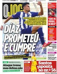 capa Jornal O Jogo de 6 outubro 2021