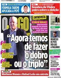 capa Jornal O Jogo de 9 outubro 2021