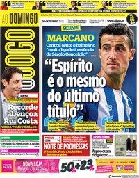 capa Jornal O Jogo de 10 outubro 2021
