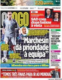capa Jornal O Jogo de 12 outubro 2021