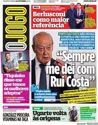 capa Jornal O Jogo de 14 outubro 2021
