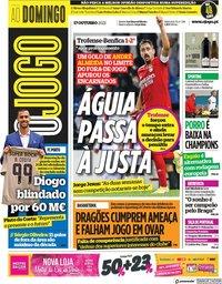 capa Jornal O Jogo de 17 outubro 2021