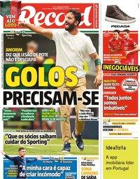 capa Jornal Record de 2 outubro 2021