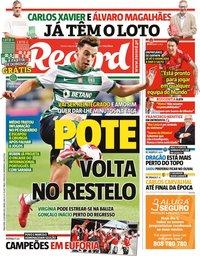 capa Jornal Record de 5 outubro 2021