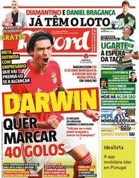 capa Jornal Record de 6 outubro 2021