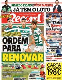 capa Jornal Record de 7 outubro 2021