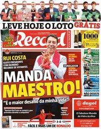 capa Jornal Record de 10 outubro 2021