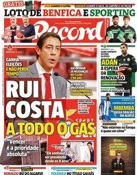 capa Jornal Record de 11 outubro 2021