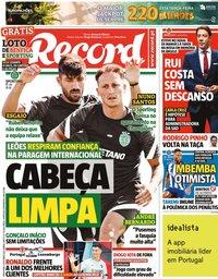 capa Jornal Record de 12 outubro 2021