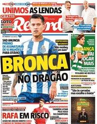 capa Jornal Record de 14 outubro 2021