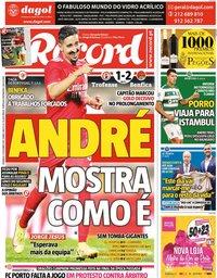 capa Jornal Record de 17 outubro 2021