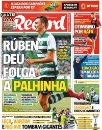 capa Jornal Record de 18 outubro 2021