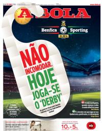 capa Jornal A Bola de 3 janeiro 2018