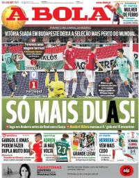 capa Jornal A Bola de 4 setembro 2017