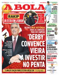 capa Jornal A Bola de 5 janeiro 2018