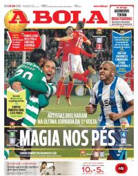 capa Jornal A Bola de 8 janeiro 2018