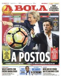 capa Jornal A Bola de 8 setembro 2017