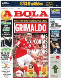 capa Jornal A Bola de 11 setembro 2017