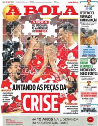 capa Jornal A Bola de 18 setembro 2017