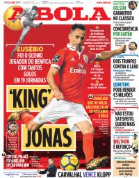 capa Jornal A Bola de 23 janeiro 2018