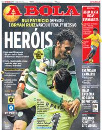 capa Jornal A Bola de 25 janeiro 2018
