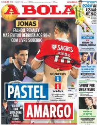 capa Jornal A Bola de 30 janeiro 2018