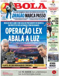 capa Jornal A Bola de 31 janeiro 2018
