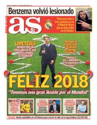 capa Jornal As de 1 janeiro 2018