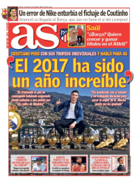capa Jornal As de 2 janeiro 2018