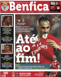 capa Jornal Benfica de 9 janeiro 2018