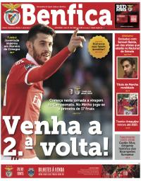 capa Jornal Benfica de 13 janeiro 2018