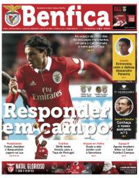 capa Jornal Benfica de 13 dezembro 2017
