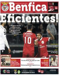 capa Jornal Benfica de 15 novembro 2017