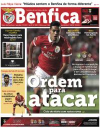 capa Jornal Benfica de 16 novembro 2017