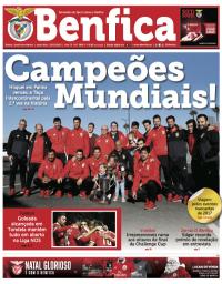 capa Jornal Benfica de 27 dezembro 2017